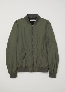 H&M H & M - Nylon Bomber Jacket - Green