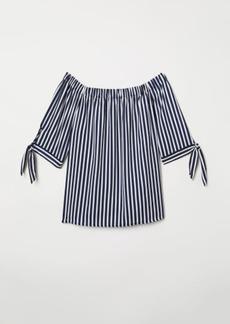 H&M H & M - Off-the-shoulder Blouse - Blue