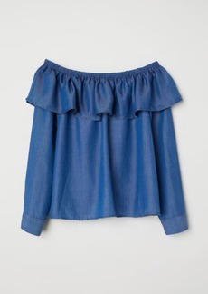 H&M H & M - Off-the-shoulder Blouse - Blue