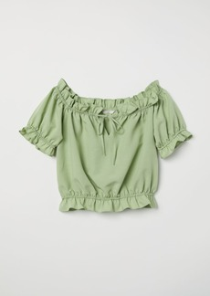 H&M H & M - Off-the-shoulder Blouse - Green