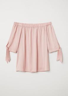 H&M H & M - Off-the-shoulder Blouse - Pink