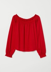 H&M H & M - Off-the-shoulder Blouse - Red