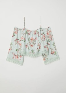 H&M H & M - Off-the-shoulder Blouse - Turquoise