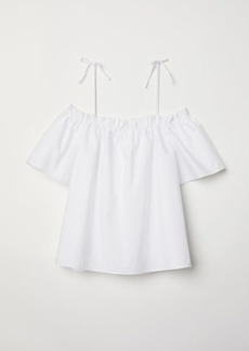 H&M H & M - Off-the-shoulder Blouse - White