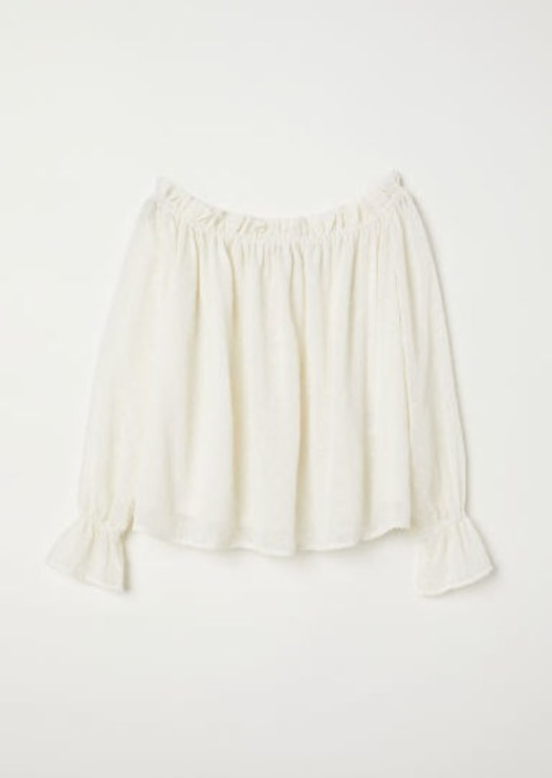 H&M H & M - Off-the-shoulder Blouse - White