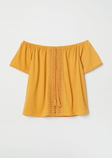 H&M H & M - Off-the-shoulder Blouse - Yellow