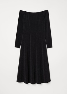 H&M H & M - Off-the-shoulder Dress - Black