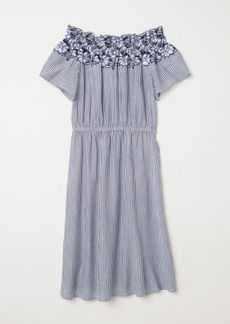 H&M H & M - Off-the-shoulder Dress - Blue