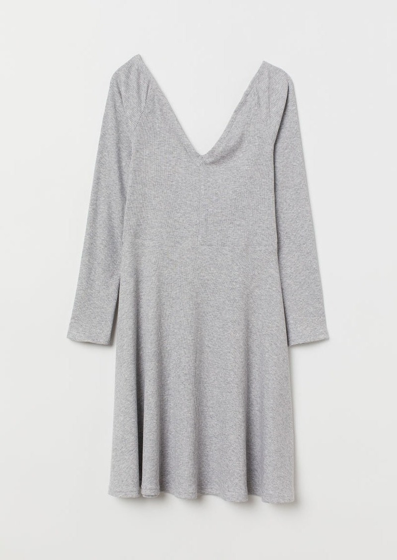H&M H & M - Off-the-shoulder Dress - Gray