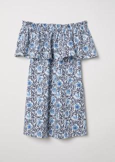 H&M H & M - Off-the-shoulder Dress - White