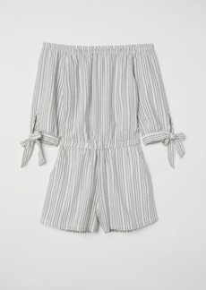 H&M H & M - Off-the-shoulder Jumpsuit - White