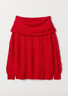 H&M H & M - Off-the-shoulder Sweater - Red