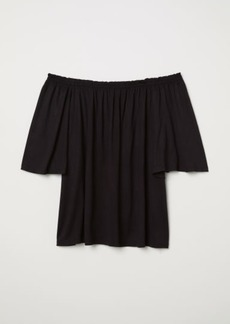 H&M H & M - Off-the-shoulder Top - Black