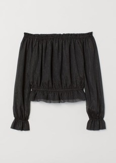 H&M H & M - Off-the-shoulder Top - Black
