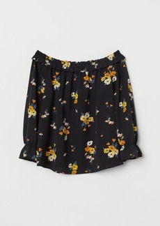 H&M H & M - Off-the-shoulder Blouse - Black