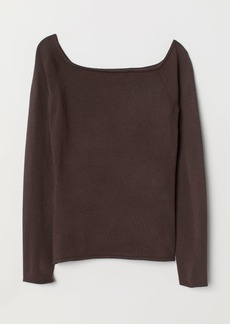 H&M H & M - Off-the-shoulder Top - Brown
