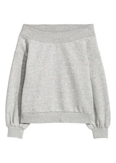 H&M H & M - Off-the-shoulder Top - Gray