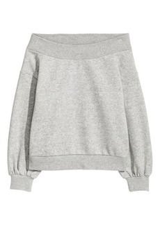 H&M H & M - Off-the-shoulder Top - Gray