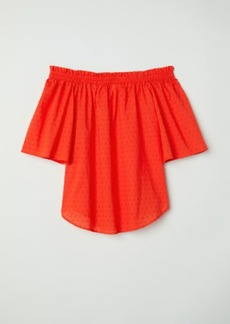 H&M H & M - Off-the-shoulder Top - Orange