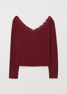 H&M H & M - Off-the-shoulder Top - Red