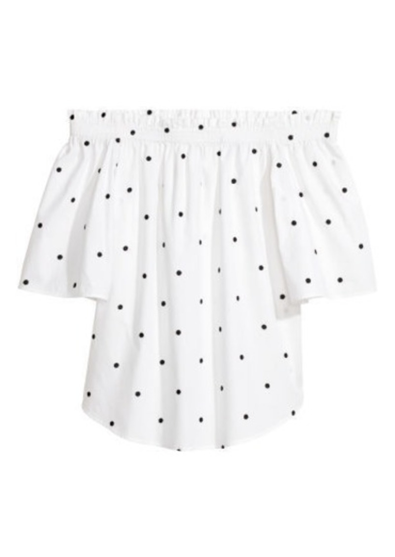 H&M H & M - Off-the-shoulder Top - White