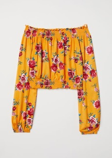 H&M H & M - Off-the-shoulder Top - Yellow