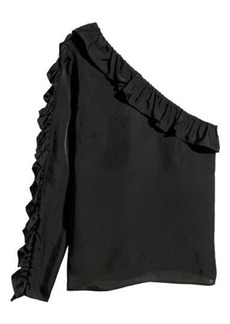 H&M H & M - One-shoulder Blouse - Black