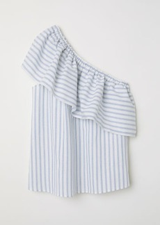 H&M H & M - One-shoulder Blouse - White