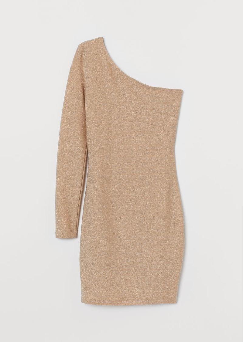 H&M H & M - One-shoulder Dress - Beige