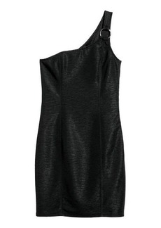 H&M H & M - One-shoulder Dress - Black
