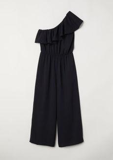 H&M H & M - One-shoulder Jumpsuit - Black