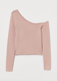 H&M H & M - One-shoulder Sweater - Orange