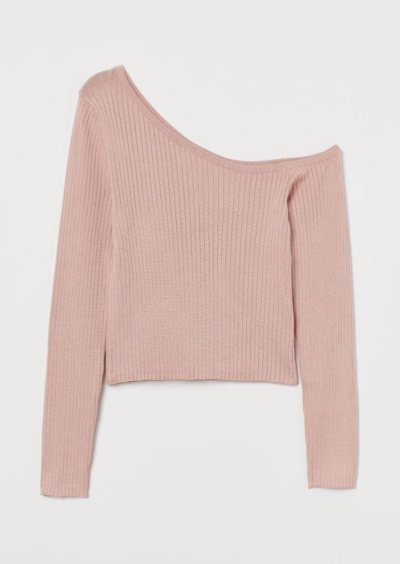 H&M H & M - One-shoulder Sweater - Orange