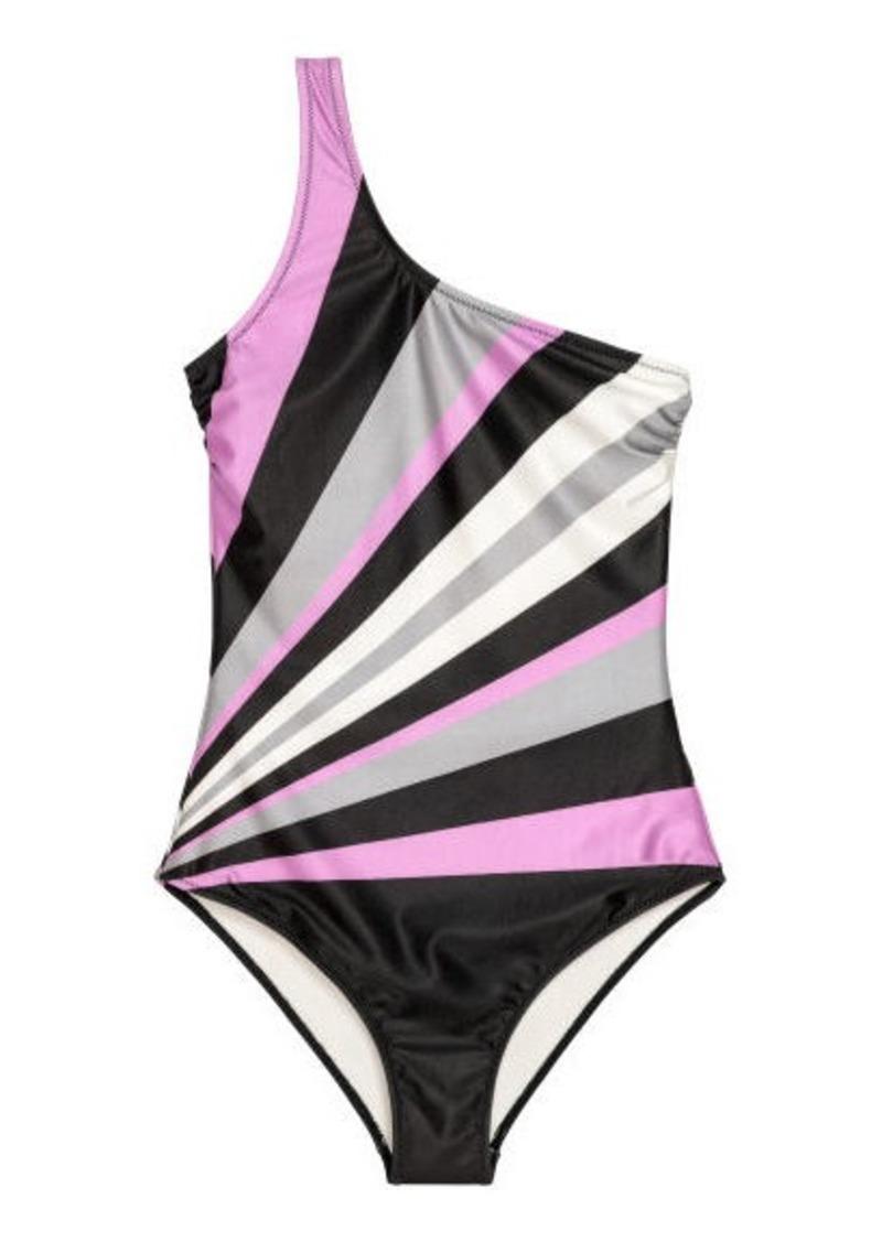 f18fc29707 H&M H & M - One-shoulder swimsuit - Black   Swimwear