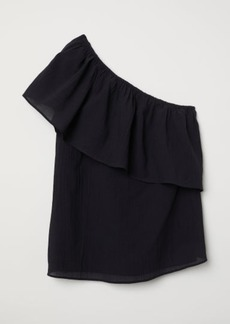 H&M H & M - One-shoulder Top - Black