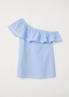 H&M H & M - One-shoulder Top - Blue