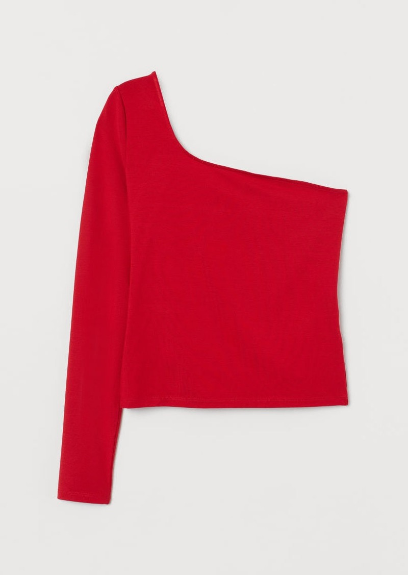 H&M H & M - One-shoulder Top - Red