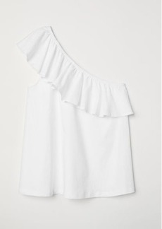 H&M H & M - One-shoulder Top - White