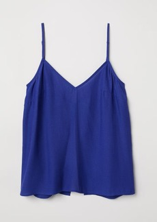 H&M H & M - Open-back Camisole Top - Blue