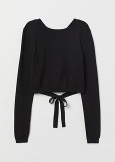 H&M H & M - Open-backed Sweater - Black