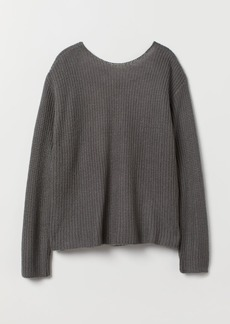 H&M H & M - Open-backed Sweater - Gray