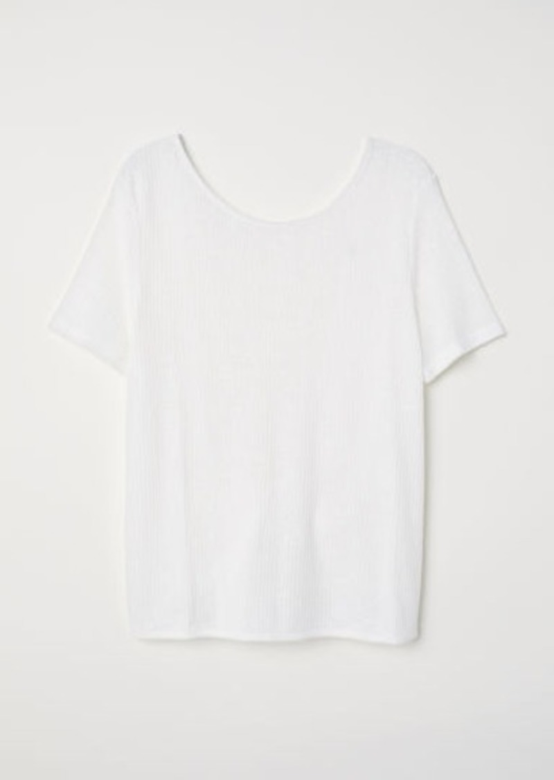 H&M H & M - Open-backed Top - White