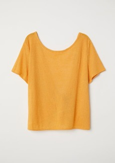 H&M H & M - Open-backed Top - Yellow