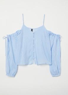H&M H & M - Open-shoulder Blouse - Blue
