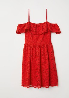 H&M H & M - Open-shoulder Dress - Red