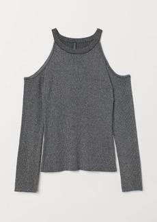 H&M H & M - Open-shoulder Sweater - Black