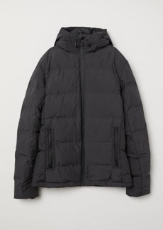 H&M H & M - Padded Hooded Jacket - Black