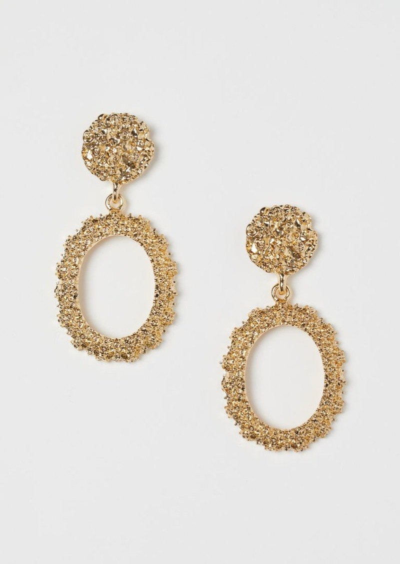 H&M H & M - Oval Earrings - Gold