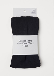 H&M H & M - Over-knee-look Tights - Black