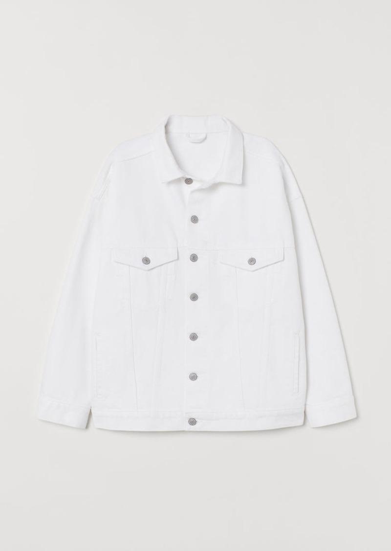 H & M - Oversized Denim Jacket - White